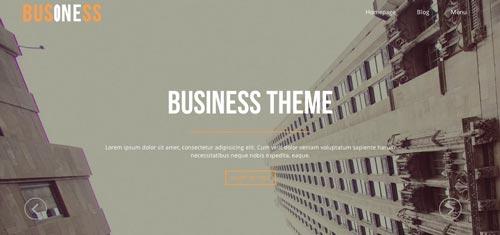Temas WordPress gratuito que siguen las tendencias de diseño actuales: Business One