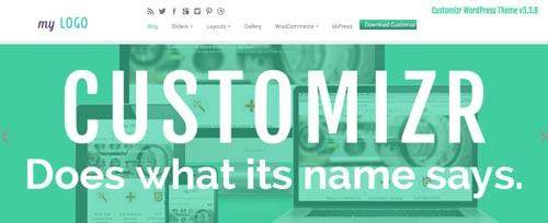 Temas WordPress gratuito que siguen las tendencias de diseño actuales: Cutomizr