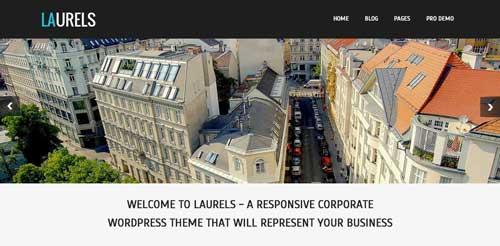 Temas WordPress gratuito que siguen las tendencias de diseño actuales: Laurels