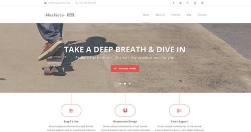 Temas WordPress gratuito que siguen las tendencias de diseño actuales: Maskitto Light