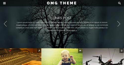 Temas WordPress gratuito que siguen las tendencias de diseño actuales: OMG