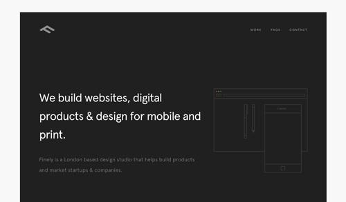 Características de un sitio web de una agencia de diseño: Tendencia minimalista