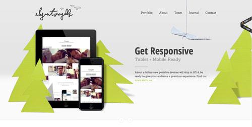 Características de un sitio web de una agencia de diseño: Selección de colores