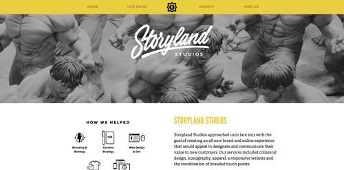 Características de un sitio web de una agencia de diseño: Uso de iconos