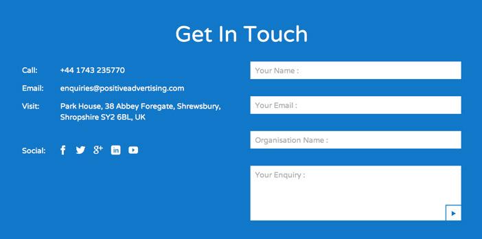 Crear sitio web - Consejos para páginas de contactos: Enlaces a redes sociales