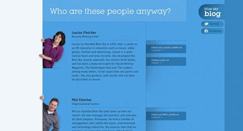 Crear sitio web - Consejos para páginas de contactos: Equipo