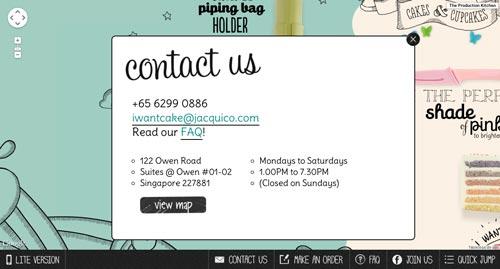 Elementos clave de una buena página de inicio: Información de contacto