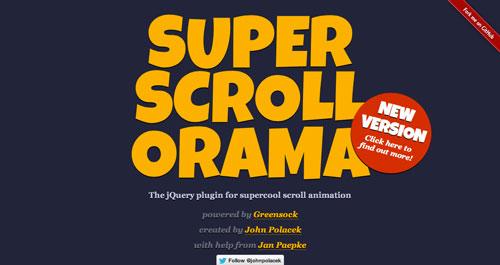 Librerías de codigo javascript para añadir efectos de scrolling: SuperScroloorama
