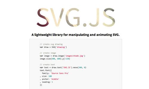 Librerías de Javascript plugin para animar gráficos SVG: SVG.js