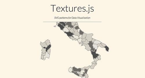 Librerías de Javascript plugin para animar gráficos SVG: Textures.js