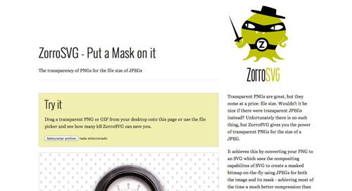 Librerías de Javascript plugin para animar gráficos SVG: ZorroSVG