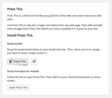 Novedades de WordPress 4.2: Press This
