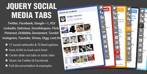 Plugin jQuery para añadir botones de redes sociales: jQuery Social Media Tabs