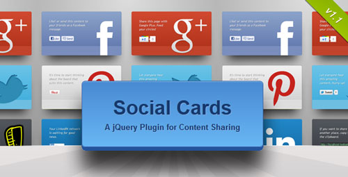 Plugin jQuery para añadir botones de redes sociales: Social Cards