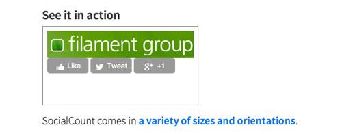 Plugin jQuery para añadir botones de redes sociales: SocialCount