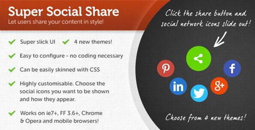 Plugin jQuery para añadir botones de redes sociales: Super Social Share