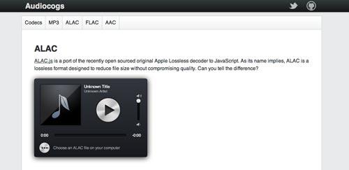 Plugin Jquery para reproducir audio en tu sitio: ALAC.js