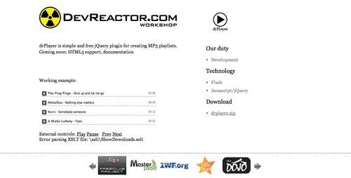 Plugin Jquery para reproducir audio en tu sitio: drPlayer