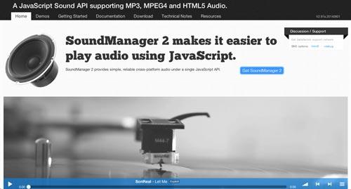 Plugin Jquery para reproducir audio en tu sitio: Sound Manager