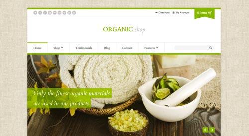 Temas WordPress de pago para tiendas online: Organic Shop