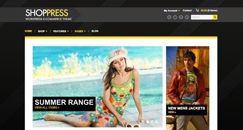 Temas WordPress de pago para tiendas online: Shop Press