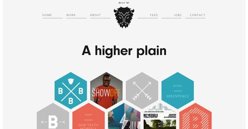 Ejemplos de páginas web con un buen diseño flat: Built by Buffalo