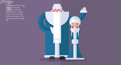 Ejemplos de páginas web con un buen diseño flat: Joy with Christmas