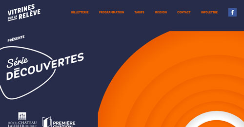 Ejemplos de páginas web con un buen diseño flat: Vitrine sur la Reléve