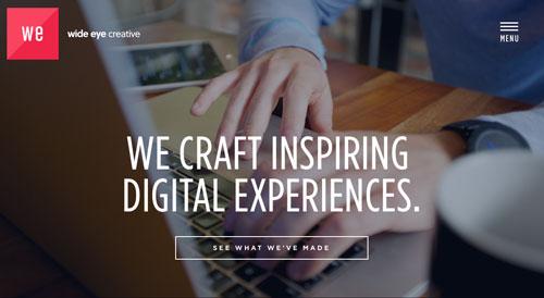 Ejemplos de páginas web con un buen diseño flat: Wide Eye Creative