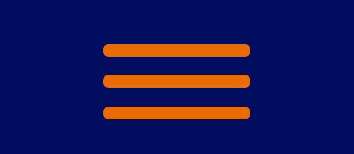 Pautas para implementar un hamburger menú en tu sitio: Destacar icono