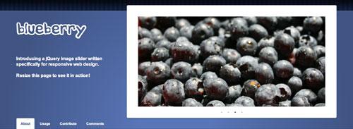 Plugin jQuery para incluir slider de imágenes adaptativos: Blueberry