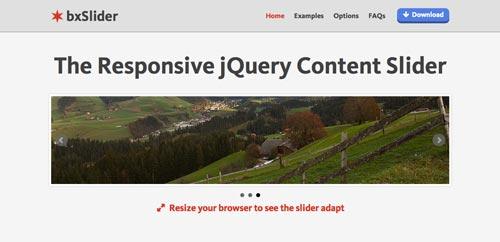 Plugin jQuery para incluir slider de imágenes adaptativos: bxSlider