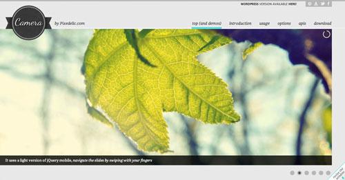 Plugin jQuery para incluir slider de imágenes adaptativos: Camera