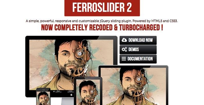 Plugin jQuery para incluir slider de imágenes adaptativos: FerroSlider