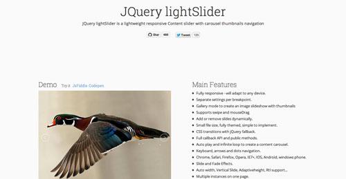 Plugin jQuery para incluir slider de imágenes adaptativos: jQuery LightSlider