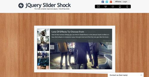 Plugin jQuery para incluir slider de imágenes adaptativos: jQuery Slider Shock