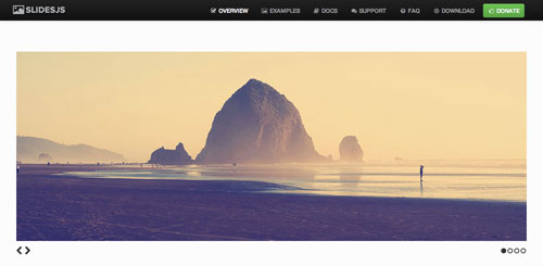 Plugin jQuery para incluir slider de imágenes adaptativos: Slidejs