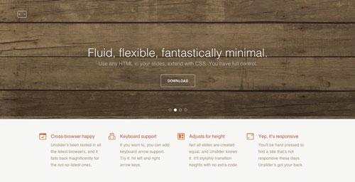Plugin jQuery para incluir slider de imágenes adaptativos: Unslider