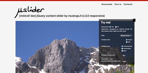 Plugin jQuery para incluir slider de imágenes adaptativos: uSlider