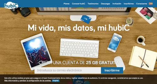 Servicios de almacenamiento en la nube gratuito: Hubic