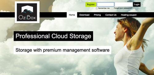 Servicios de almacenamiento en la nube gratuito: OziBox