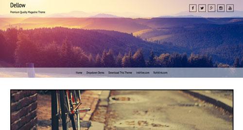Temas WordPress gratuitos con efecto parallax: Dellow