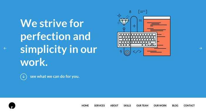 Temas WordPress gratuitos con efecto parallax: OneEngine
