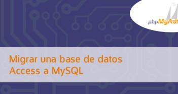 Migrar base de datos en Access a MySQL