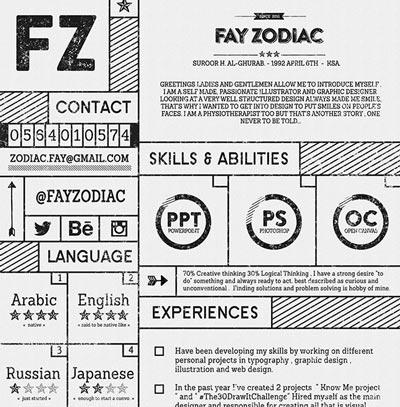 Plantillas de curriculum vitae gratuitas: Free Resume Template de Fay Zodiac