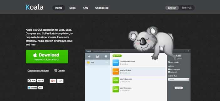 Herramientas para comprimir código: Koala