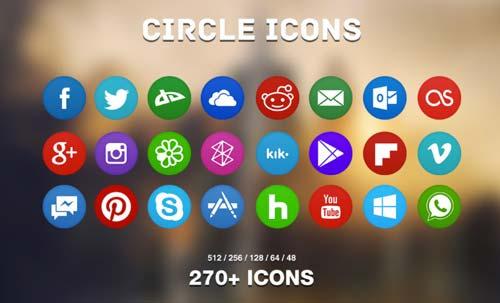 Pack gratuito de iconos de redes sociales: Circle Icon Pack de martz90
