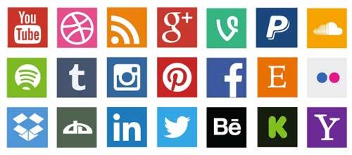 Pack gratuito de iconos de redes sociales: Flat Social Media Icon Vector Pack de Allan McAvoy