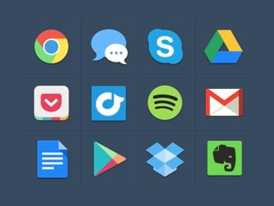 Pack gratuito de iconos de redes sociales: Free Colourful Icons de Michael Dolejs