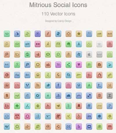 Pack gratuito de iconos de redes sociales: Free Vector Social Media Icons de Czarny-Design